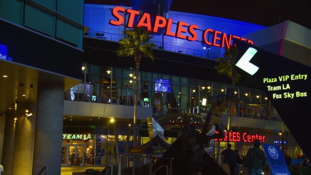 MS, Staples Center at night, Los Angeles, California, USA,