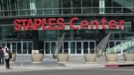 Staples Center exteriors signage Anschutz Entertainment Group on March 14 2013 in Los Angeles CA