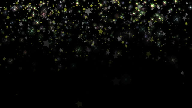 Star Confetti Background Loop