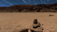 Star Trails and Desert Landscape