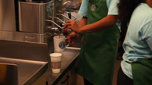 Starbucks baristas in Sumatra
