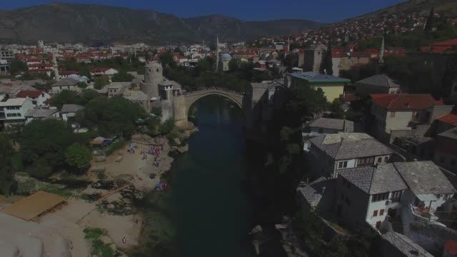 'Stari Most' A old bridge in Mostar Bosnia and herzegovina