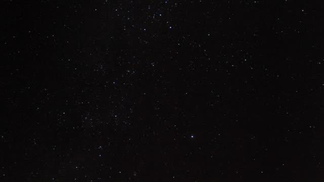 Stars and milky way track across night sky, Kenya
