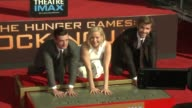 CLEAN Stars From Lionsgate's 'The Hunger Games Mockingjay Part 2' Hand And Footprint Ceremony at TCL Chinese Theatre on October 31 2015 in Hollywood...