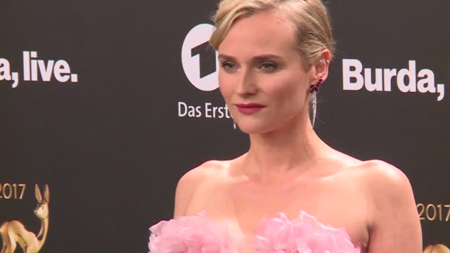 Stars like actress Diane Kruger actor Hugh Jackman artist Ai Weiwei and others strut their stuff at the Bambi Awards Germany's premiere media awards...