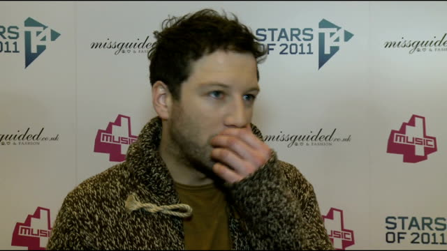 celebrity interviews Cast members of 'Misfits' speaking to press Matt Cardle interview SOT On his star of 2011 Adele On his star moment of 2011...