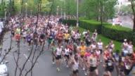 Start of running race road race mass of runners