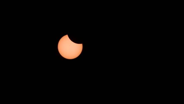 Start or Beginning of Total Solar Eclipse Over Oregon