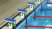 starting blocks of an olympic swimming pool stock footage video getty images - Olympic Swimming Starting Blocks