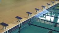 Blocchi di partenza di una piscina olimpica