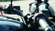 Starting motorcycle