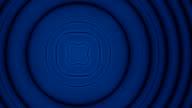 Moving blue to orange rings kaleidoscope fractal video