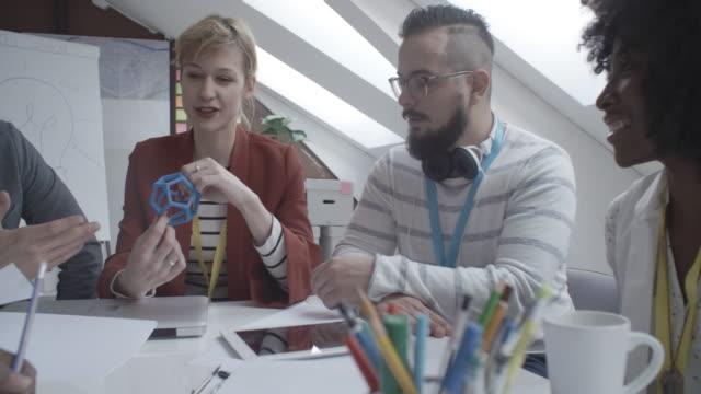 4K: Startup Business Team Brainstorming in office.
