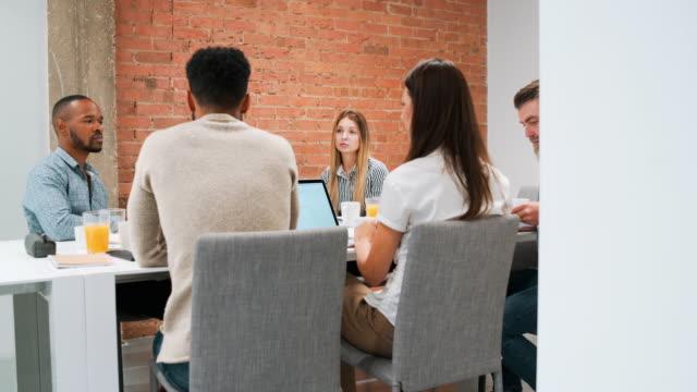 Start-up entrepreneurs having business meeting