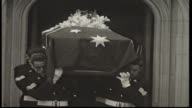 State Funeral for former Prime Minister Sir Earle Page at St Andrews Anglican Cathedral Sydney / Country Party Leader John McEwen arriving and...