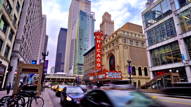 State street and The Chicago Theatre