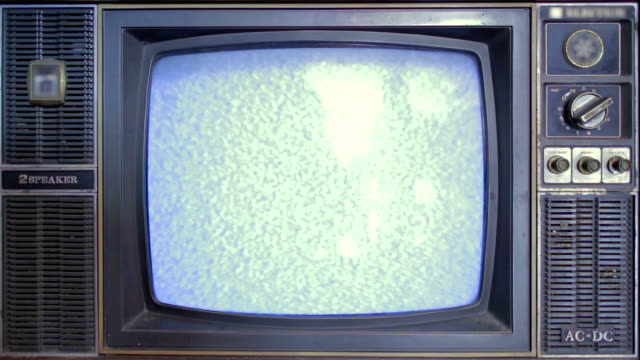 Static old television