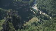 Static shot Cevennes - Limestone rock formations in Gorges du Tarn