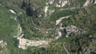 Static shot Cevennes - view from above into the Gorges du Tarn