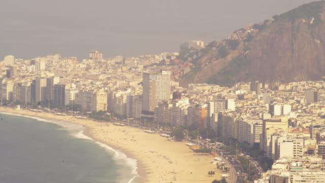 Static shot of Rio de Janeiro coastline in Brazil