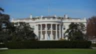 Static shot of the beautiful White House in Washington DC