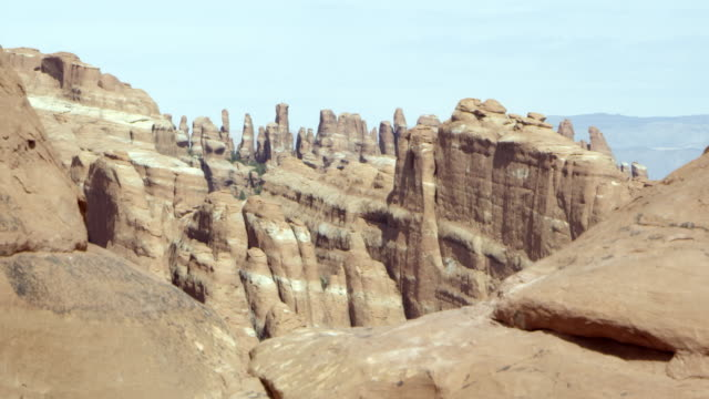 Static view of sandstone fins.