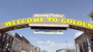 Static view of the Welcome to Golden Colorado Sign.