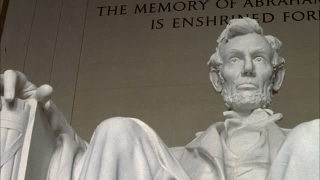 SHAKY Statue of Abraham Lincoln in Lincoln Memorial / Washington D.C., United States