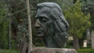 statue of Frederic Chopin at carthusian monastery, Valldemossa, Majorca