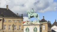ZO, WS, Statue of Frederick V at Amalienborg Palace Square, Copenhagen, Denmark