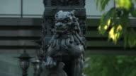 Statue Of Lion On Nihonbashi, Tokyo, Japan