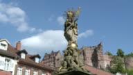 MS Statue of Mother marry / Heidelberg, Baden-Wuerttemberg, Germany