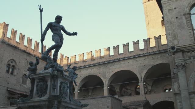 MS LA Statue of Neptune in Piazza Maggiore / Bologna, Italy