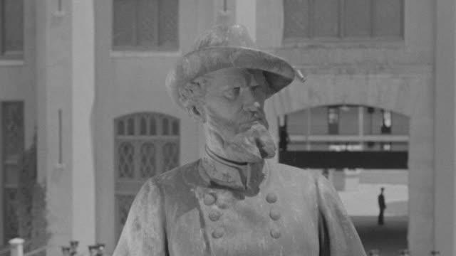 CU TD POV Statue of Stonewall Jackson at Virgina Military Institute