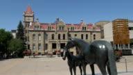 MS Statues of horses at City Hall / Calgary, Alberta, Canada
