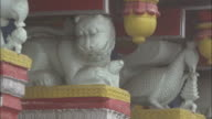Statues on hindu temple, Badrinath, India Available in HD.