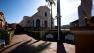 Steady Cam shot of Trinidad Cuba , Plaza Mayor