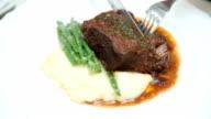 Steak at restaurant