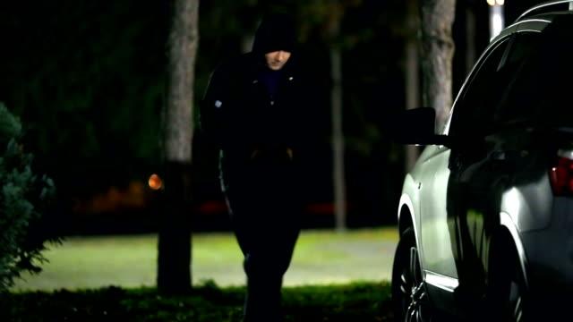 Stealing a car.