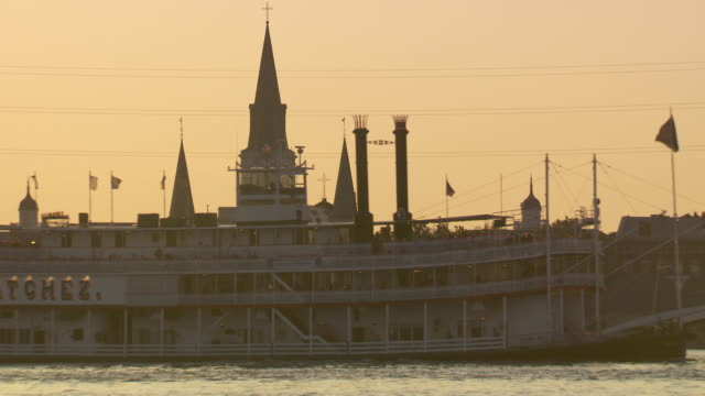 MS Steam boatpassing through river with tourist / New Orleans, Louisiana, United States