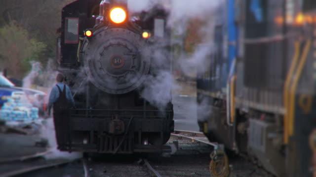 Dampflokomotive Lokomotive-Abend Passage