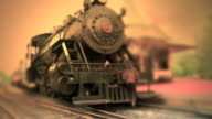 Steam Engine Train Waits at Station #3 - Color