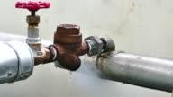 Steam leeking out of valve