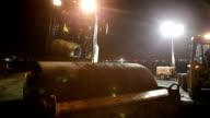CU Steam roller moving across fresh asphalt, Cape Town, South Africa