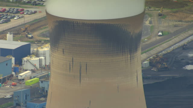 CU AERIAL TD Steam tower at Conemaugh Generating Station in Cambria County / Pennsylvania, United States