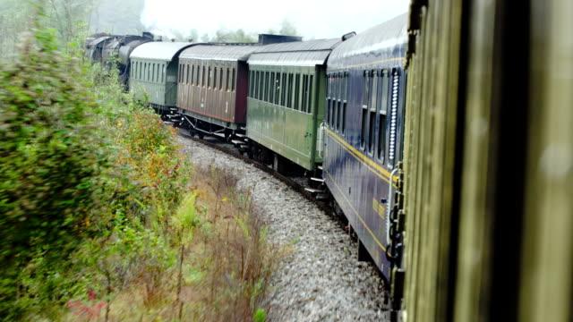 Zug mit Dampflokomotive Reise