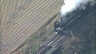 Steam train travels on old Furusato Ginga line