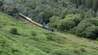 Zug mit Dampflokomotive