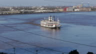 Steamboat passing through, Mississippi, New Orleans, USA