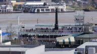 Steamboat, unboarding, Mississippi, New Orleans, USA